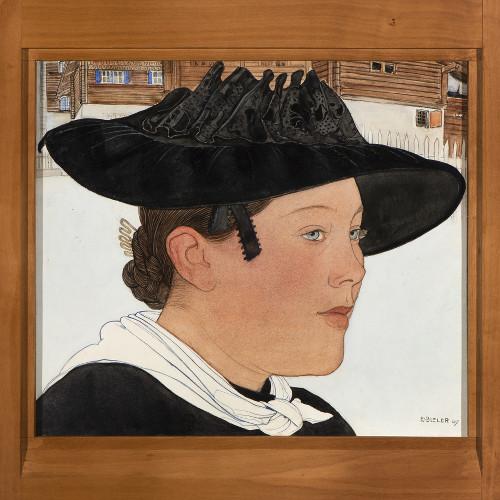 Jeune saviésanne par Ernest Bieler